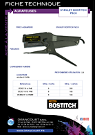 Brochure de téléchargement : agrafeuses P6C8 Stanley Bostitch