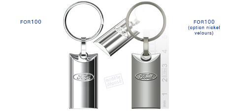 Porte clés Ford for100/for100 (option nickel velours)