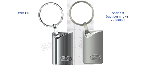 Porte clés Ford for118/for118 (option nickel velours)