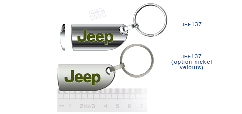 Porte clés Jeep jee137/jee137 (option nickel velours)