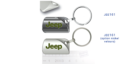 Porte clés Jeep jee161/jee161 (option nickel velours)
