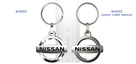 Porte clés Nissan nis022/nis022 (option nickel velours)