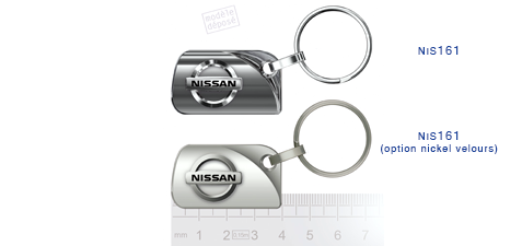 Porte clés Nissan nis161/ nis161 (option nickel velours)