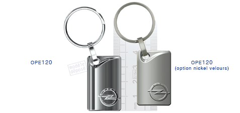 Porte clés Opel ope120/ope120 (option nickel velours)