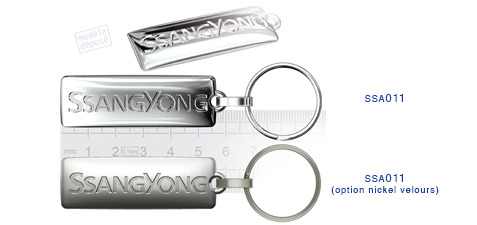 Porte clés Ssangyong ssa011 (option nickel velours)
