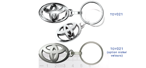 Porte clés Toyota toy021/toy021(option nickel velours)