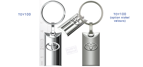 Porte clés Toyota toy100/toy100 (option nickel velours)