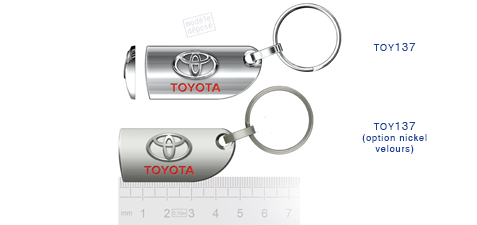 Porte clés Toyota toy137/toy137 (option nickel velours)