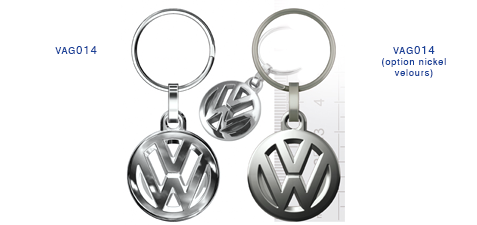 Porte clés Volkswaggen vag014/vag014 (option nickel velours)