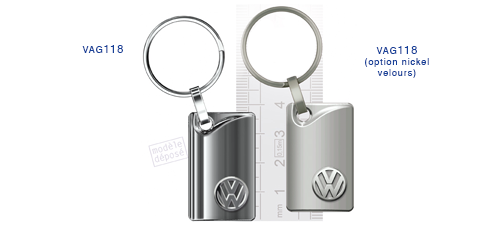 Porte clés Volkswaggen vag118/vag118 (option nickel velours)